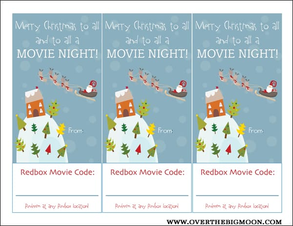 photo relating to Printable Redbox Gift Card named Redbox Neighbor Present::Bloggers Ideal 12 Times of Xmas
